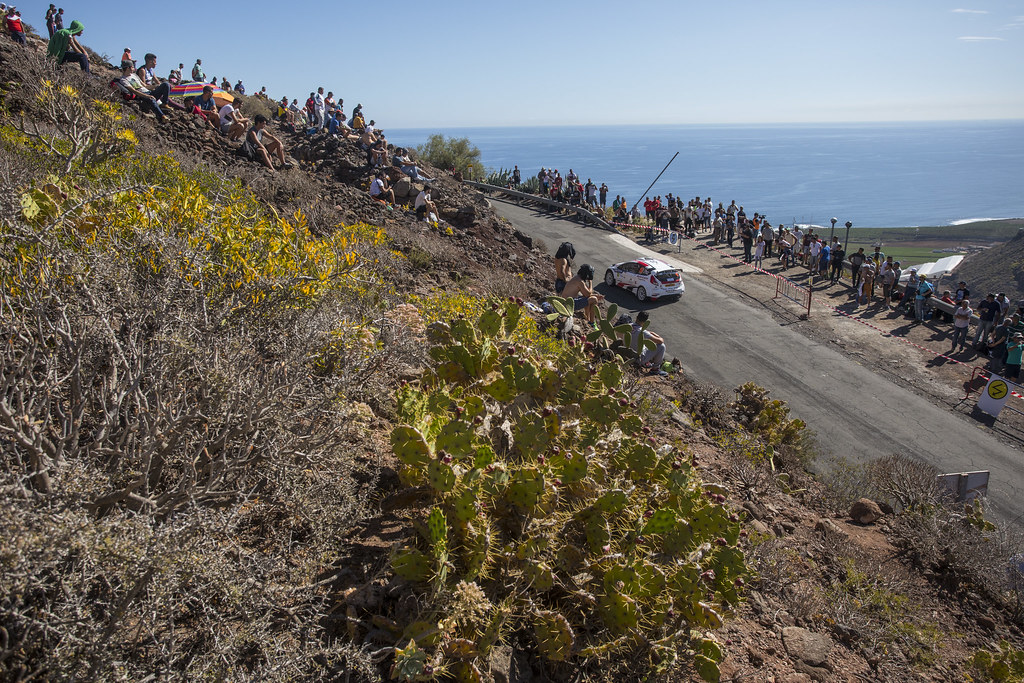 15 MONZON ARTILES Luis Felipe (ESP), DENIZ HOLTMMAN Jose Carlos (ESP), Ford Fiesta R5, Action during the 2017 European Rally Championship ERC Rally Islas Canarias, El Corte Inglés,  from May 4 to 6, at Las Palmas, Spain - Photo Gregory Lenormand / DPPI