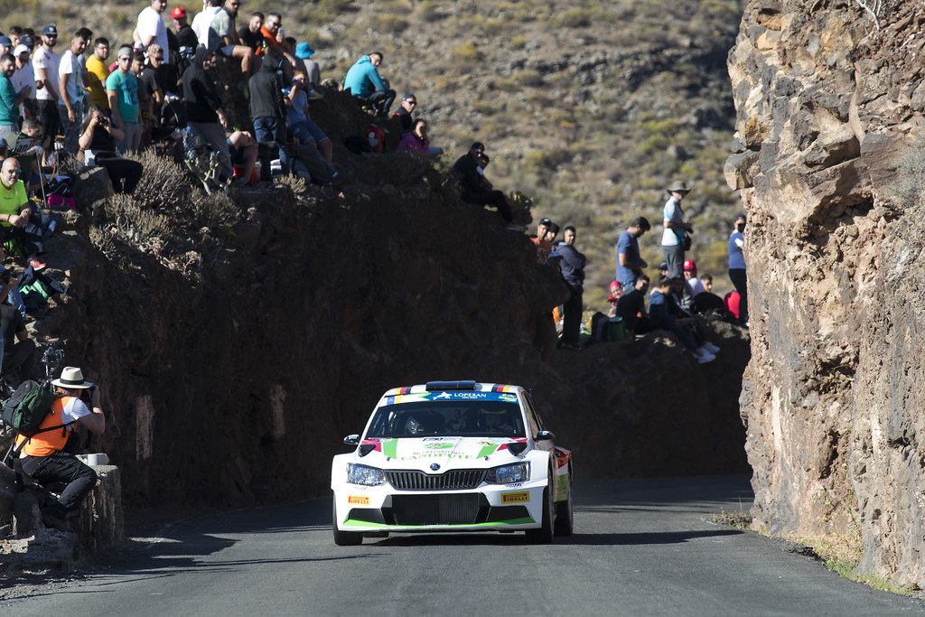 02 GRIEBEL Marijan (DEU), KOPCZYK Stefan (DEU), Skoda Fabia R5, Action during the 2017 European Rally Championship ERC Rally Islas Canarias, El Corte Inglés,  from May 4 to 6, at Las Palmas, Spain - Photo Gregory Lenormand / DPPI