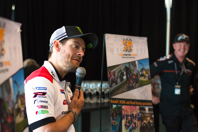 Cal Crutchlow visits our VIP suite