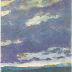 Ken Elliott; Blue Skies II; Monotype with chine-colle; 2004 -