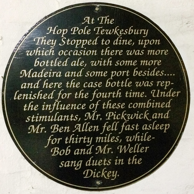 Photo of Mr. Pickwick black plaque