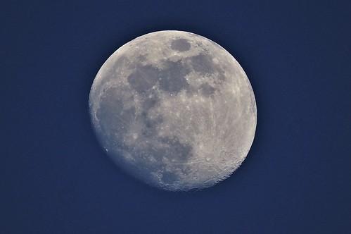 moon blue sky pdx portland oregon