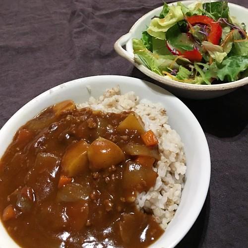 ワシの好きなジャワカレー辛口。なんか体調悪い日だったけど寝て治すかのう #dinner #japanese #japanesefood #curryrice  お代わりしたいけどガマン