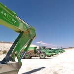 Excavator and ADTs