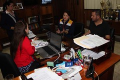 Funcionarios del GAD Municipal coordinan acciones con empresa privada