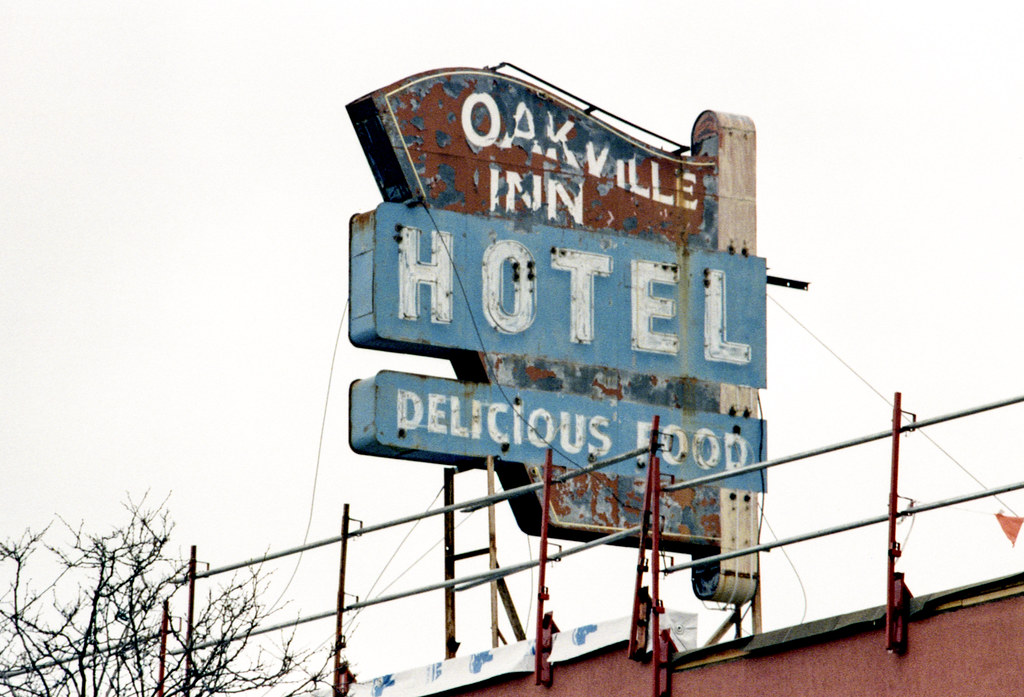 Oakville Inn Steel Sign
