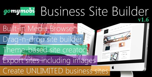 gomymobiBSB v1.6 - Drag-n-Drop Business Website Builder & Host Platform - Business+