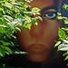 Mujer tigre escondida en la selva. by Luis Mª