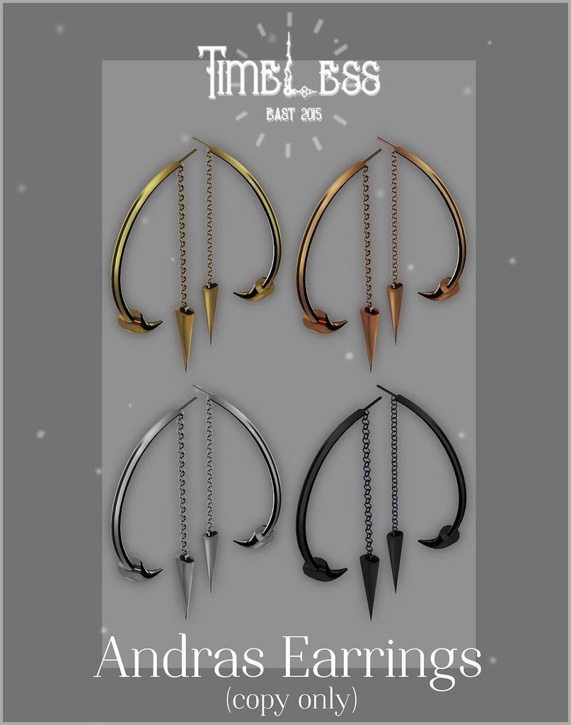 Timeless - Andras Earrings - SecondLifeHub.com
