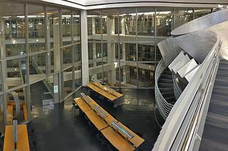 SF Public Library - Main branch 6flr stairs bridge