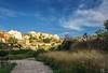 Atardecer de verano en Castell de Castells, Alicante, Spain.