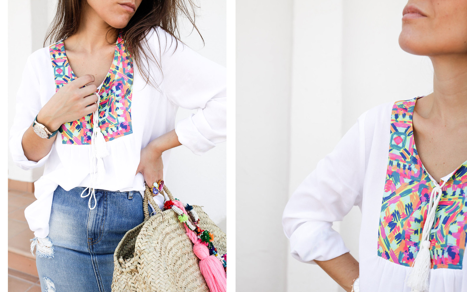 05_ripped_denim_skirt_white_shirt_ruga_style_theguestgirl_barcelona