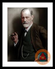 Sigmund Freud Colorized Framed Print