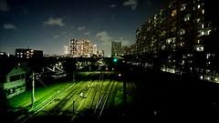 Night City Architecture Urban Skyline Illuminated