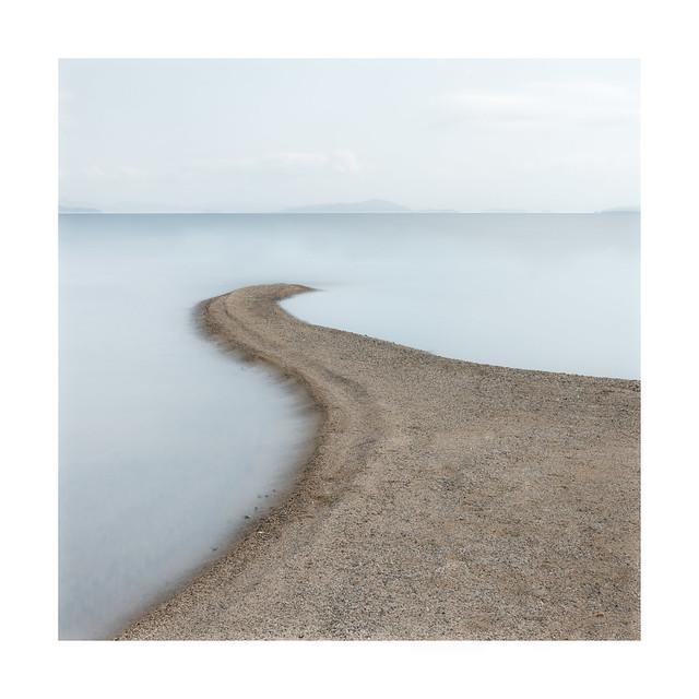 Sand spit, Lake Biwa