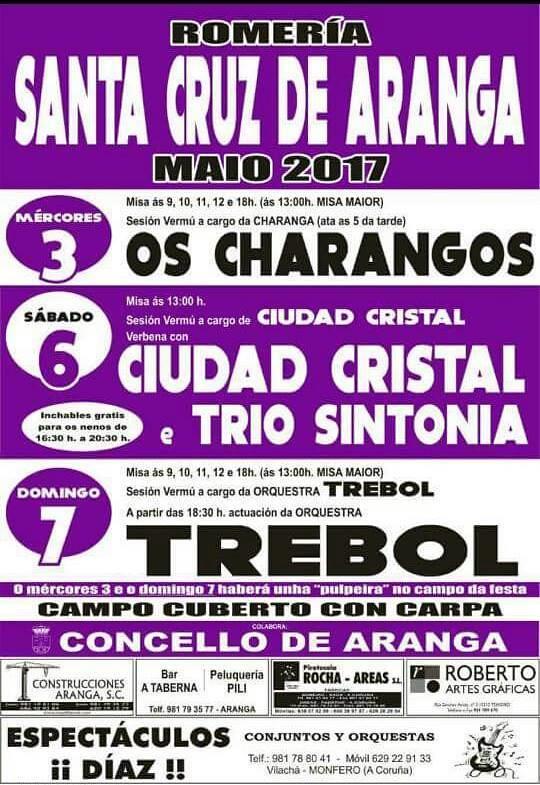 Aranga 2017 - Romaría da Santa Cruz - cartel