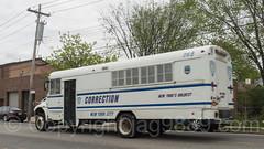 NYC Department of Correction Inmate Transportation Bus, City Island, Bronx, New York City