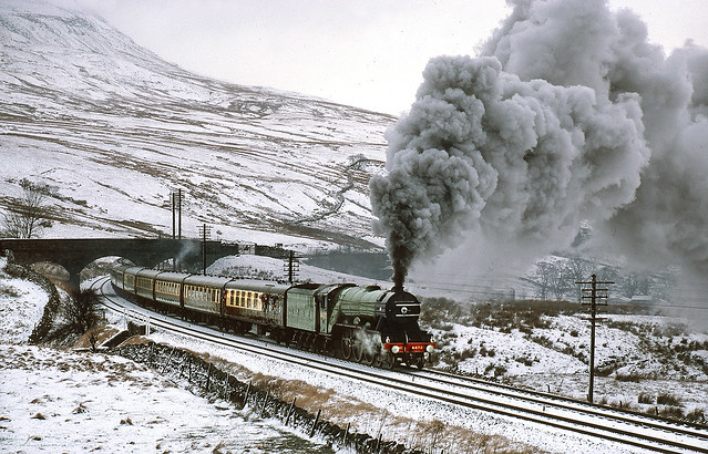 Winter on the Settle and Carlisle.