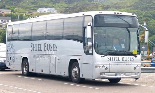 HSK 735 'Shiel Buses' Volvo B12M / Plaxton Paragon on 'Dennis Basford's railsroadsrunways.blogspot.co.uk'