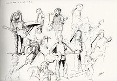Concert Rock à la Côte Saint André, c'est rare alors cela mérite des croquis ! - Photo of Champier