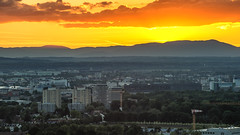 Sunset over Stücki Basel