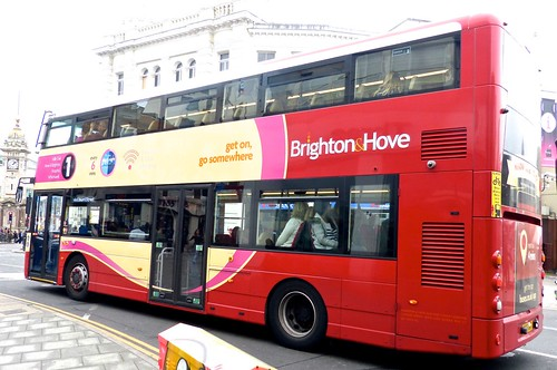 SK16 GWF 'Brighton & Hove' No 804 '1' Mercedes-Benz /  Wright Streetdeck /1 'Dennis Basford's railsroadsrunways.blogspot.co.uk