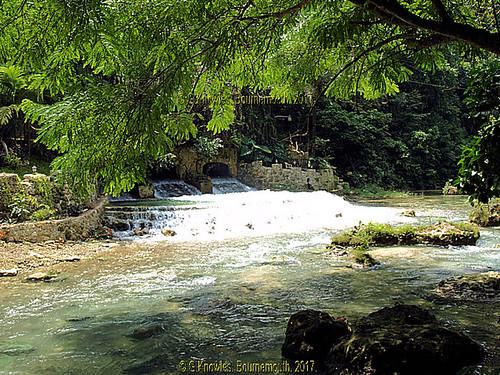 On the walk up to Kawasan Falls in October 2012, in Matutinao, Badian, Cebu, Philippines.