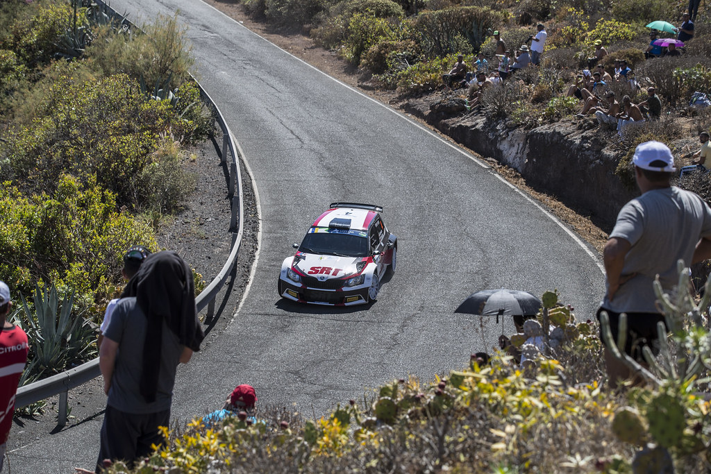 04 GRYAZIN Nicolas (LVA), FERODOV Yaroslav (RUS), Skoda Fabia R5 Action during the 2017 European Rally Championship ERC Rally Islas Canarias, El Corte Inglés,  from May 4 to 6, at Las Palmas, Spain - Photo Gregory Lenormand / DPPI