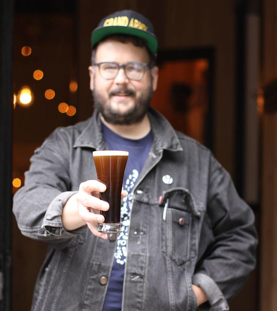 This man has what you need for this rainy day. Dry Irish stout, country music and a well developed sense of whimsy. @cmballa #folksbiertastingroom #noreaster #shelterfromthestorm open today til midnight and Sunday noon til 10 pm.