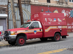 FDNY Ladder 80 Chemical Protective Clothing Utility Truck, Port Richmond, New York City