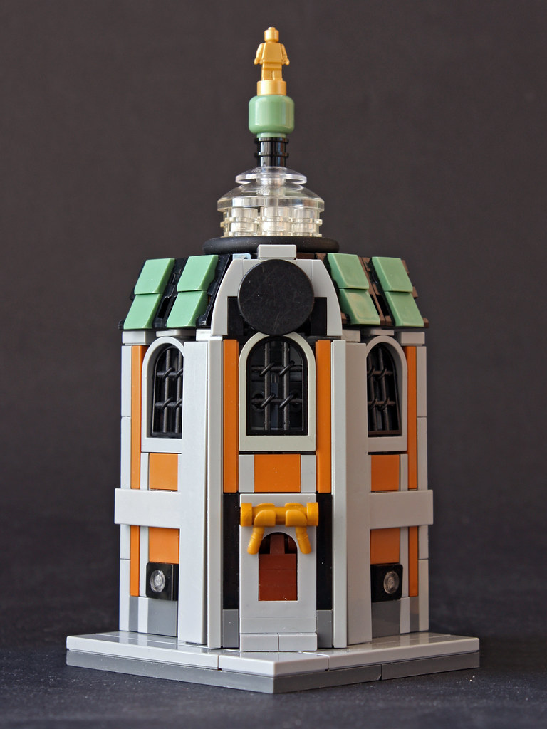Mini Modular House of Secret Society of Aviation (custom built Lego model)