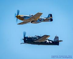 Looking Up @FlyingHeritage Mustang & Hellcat