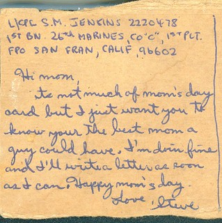 Mother's Day Postcard, 17 May 1967
