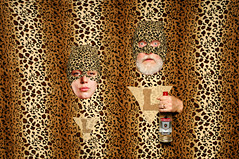The Leopard Twins ~ Masters of Stealth and Camouflage, as long as they're in front of Leopard Skin Wallpaper and as long as Vodka isn't Present