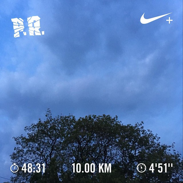 #TCS10K2017 training day #50. 5:10 AM 10K time trial run. #Runners360 #nikeplus #nikerunning #werun2017 #werunkalaburagi #nature #nofilter #pr #pb