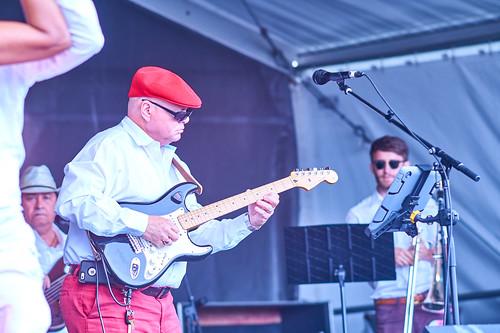 Papo y Son Mandao on Day 4 of Jazz Fest 2017 - May 4. Photo by Eli Mergel.