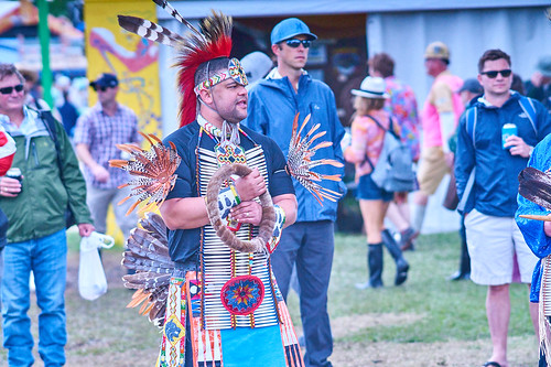 Native American Pow Wow on Day 4 of Jazz Fest 2017 - May 4. Photo by Eli Mergel.