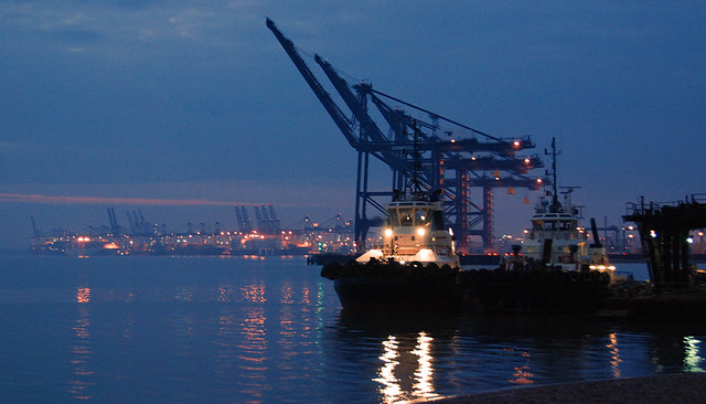 Felixstowe Docks At Night