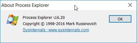 Sysinternals Process Explorer 116