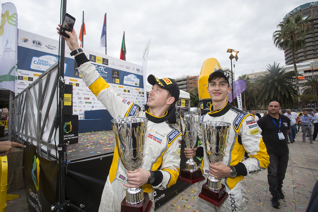 INGRAM Chris (GBR), EDMONDSON Elliot (GBR), Opel Adam R2, , ambiance portrait during the 2017 European Rally Championship ERC Rally Islas Canarias, El Corte Inglés,  from May 4 to 6, at Las Palmas, Spain - Photo Gregory Lenormand / DPPI