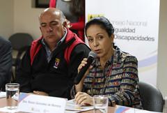 04/24/2017 - 13:22 - Quito, 24 de abril de 2017 (Andes).- Rocío González esposa del presidente electo Lenín Moeno, participó en una reunión con representantes de Nicaragua y El Salvador  para tratar sobre programas para discapacitados. ANDES/Micaela Ayala V.
