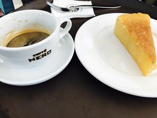 Espresso with Lemon Honey Cake
