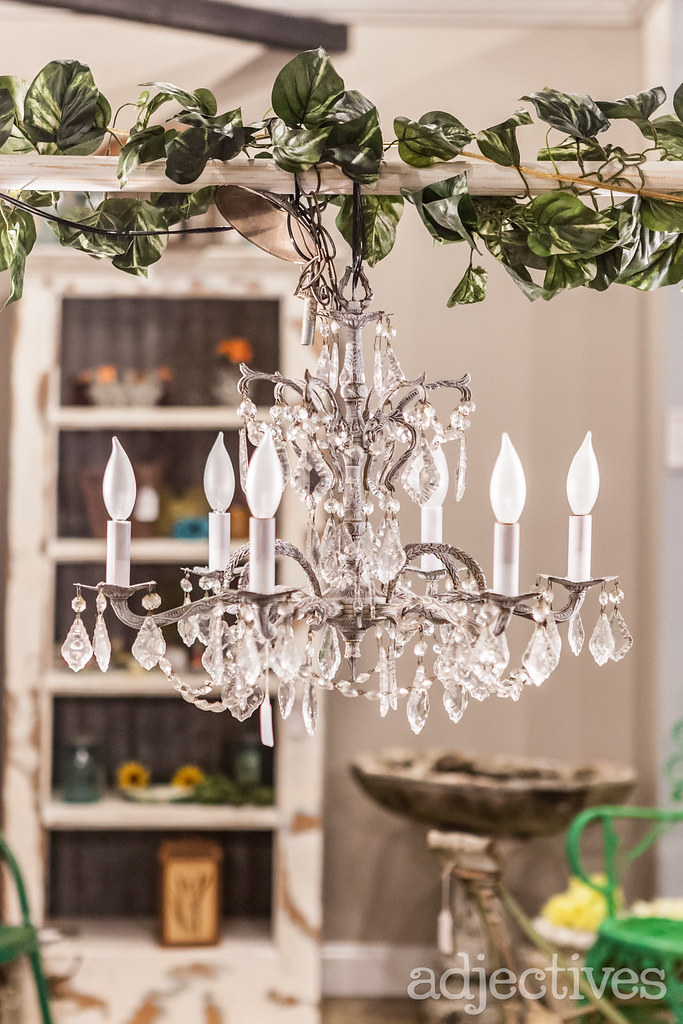 Vintage Chandelier at Adjectives Altamonte  by Artsy Fartsy