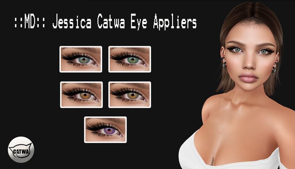 ::MD:: Jessica Catwa Eye Appliers - SecondLifeHub.com