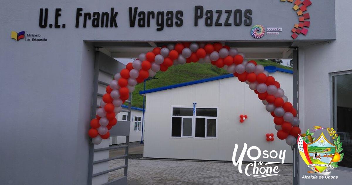 Inauguran UE del Siglo XXI Frank Vargas Pazzos parroquia Chibunga
