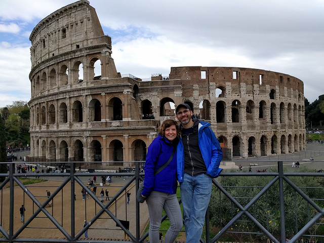 us in front of the Colloseum