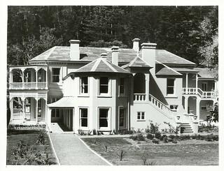 Exterior view of Mansion House. Kawau Island