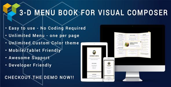 Visual Composer - 3D Menu Flyer for Restaurant and Cafe v1.0