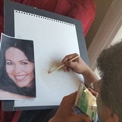 Working in a new project for actress @sandrasantiago_official with my brother Miguel Visual Arts & Branding