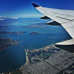 Marin, Golden Gate Bridge, Angel Island, San Francisco.... Welcoming me back to the Bay Area.